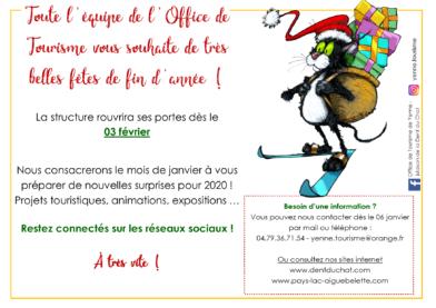 Annual closure - Tourist Office & Maison de la Dent du Chat in Yenne